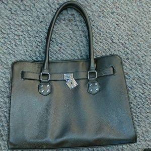 Rosetti satchel handbag in color metallic gunmetal